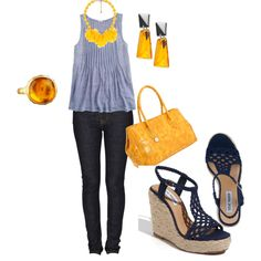 """Navy & Yellow""   cute"