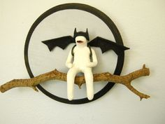 Bat Mook on Branch by ilovegreyskies on Etsy, $46.00