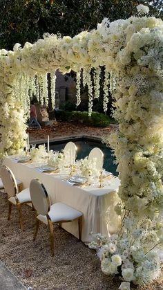 Wedding Stage, Wedding Goals, Dream Wedding, Backdrop Wedding, Wedding Reception Ideas, Wedding Dreams, Wedding Venues, Outdoor Wedding Decorations, Wedding Centerpieces