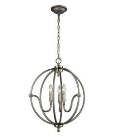 This Weathered Stanton Three-Light Chandelier is perfect! #zulilyfinds