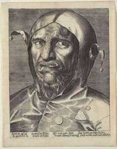 Large Head of a Jester (1501 - 1600), Anonymous. German engraving on laid paper, Art Gallery of Ontario 85/36