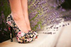 floral heels.