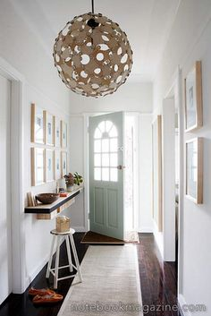 Modern Foyer Design with Creative Decoration:White Foyer Interior With Circular Ceiling Lights And White Doors With Arch Style Plus Black Floating Shelf Unit Narrow Entryway, Entryway Shelf, Apartment Entryway, Entryway Decor, Entryway Ideas, Entry Foyer, Hallway Ideas, Foyer Storage, Hallway Pictures