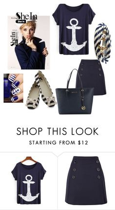 """""""anchor print"""" by evachasioti ❤ liked on Polyvore featuring Sonia by Sonia Rykiel, BC Footwear and MICHAEL Michael Kors"""