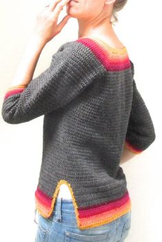 A beautiful sweater for Spring Weather, Crochet Pattern by Steel & Stitch