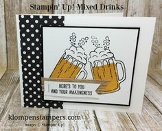 Klompen Stampers (Stampin' Up! Demonstrator Jackie Bolhuis): Mixed Drinks Card Series: Card #1