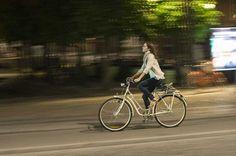 Princess Mary on her bike.