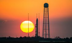 Antares Rocket at Sunrise
