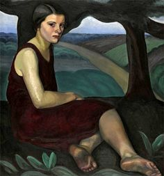 Prudence Heward, Girl on a Hill, 1928 - Oil on canvas, x cm National Gallery of Canada, Ottawa Canadian Painters, Canadian Artists, Beaver Hall, Art Inuit, Kunsthistorisches Museum, Montreal Museums, Female Painters, Art Gallery, Indigenous Art