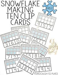 Snowflake Making Ten Clip Cards