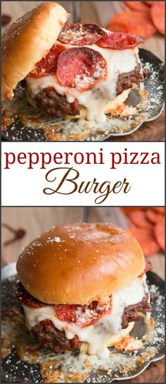 So you think a juicy burger sounds good? Try this pepperoni pizza burger instead and let your taste buds go crazy! So delicious!