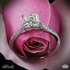 Aurora Diamond Engagement Ring for Princess Cut Diamonds by Vatche | 1761 #princesscutdiamondring #princesscutring