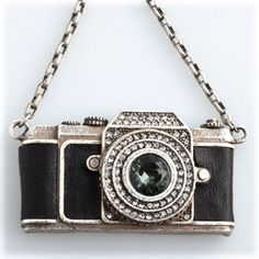 Vintage style pewter camera necklace. £31.50