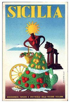 ENIT - Sicilia by Luggage Labels