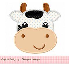 Horse Farm Animal Machine Embroidery Applique Design for girls Applique Templates, Applique Patterns, Applique Designs, Quilt Patterns, Baby Applique, Machine Embroidery Applique, Farm Quilt, Cow Face, Elephant Birthday