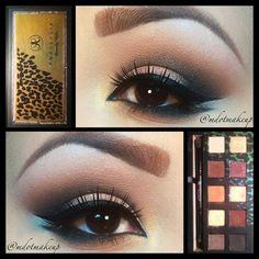 Smokey eye makeup tutorial for brown eyes using Anastasia eye shadow palette