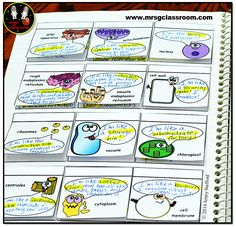 Cartoon Organelles - SCIENCE Interactive Notebook on CELLS. Biology Lessons, Ap Biology, Science Biology, Science Lessons, Science Education, Life Science, Cell Biology, Science Worksheets, Waldorf Education