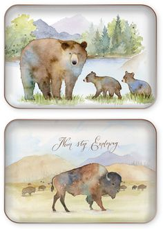 DECORATIVE TRAYS by Punch Studio Each decorative tray has a glossy coated printed surface with a metallic finish base Trays are not food safe Tray size: x Great Gifts For Guys, Gifts For Boys, Decorative Trays, Tray Decor, Safe Food, Punch, Moose Art, Surface, Metallic