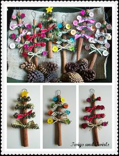 Twigs and Twirls: Christmas in July - Cinnamon Stick Tree - Ornament #1