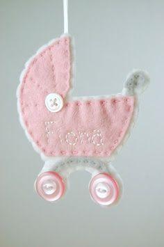 ✄ A Fondness for Felt ✄ DIY craft inspiration: felt baby buggy