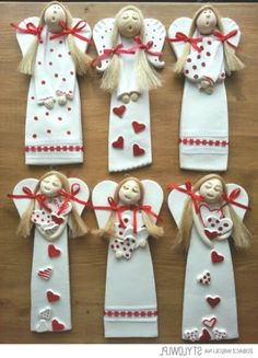 pl The post www.pl # appeared first on Beton Diy. Diy Xmas, Diy And Crafts, Christmas Crafts, Crafts For Kids, Christmas Ornaments, Clay Christmas Decorations, Christmas Clay, Christmas Angels, Clay Ornaments