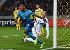 Theo Walcott scored twice early on to help Arsenal fly into a two-goal lead within the first 22 minutes at the Borisov Arena