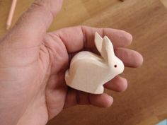 Littlest Bunny /  Waldorf  Wood Rabbit Toy
