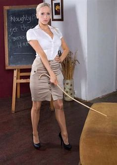 The number of boys opting for a caning instead of detention increased sharply when the new teacher was made responsible for discipline. Skirt Tumblr, Strict Wives, School Girl Outfit, Pretty Shirts, Girls Uniforms, Christian Women, Strong Women, Sexy Women, Sexy Legs