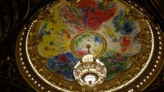 Ceiling paintings of Chagall in Palais Garnier