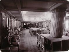 "General view of the wardroom for the personnel of the yacht ""Standart"""