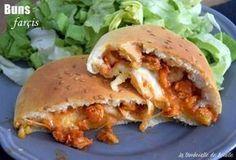 Buns farcis poulet mozzarella et basilic