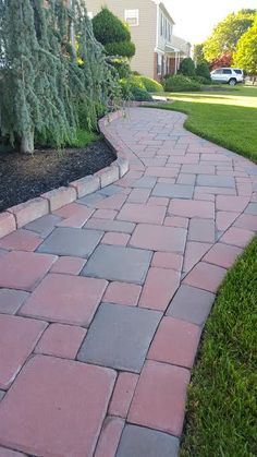 Follow the red brick road to find exactly what your outdoor living space needs this Autumn! Click above and view more Cambridge Pavingtones with ArmorTec steps and walkways Contractor: Green Acres Nursey and Garden Center
