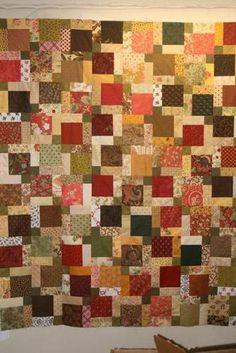 Scrappy Disappearing Nine Patch - QUILTING
