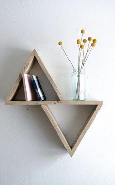 DIY geometric shelf for your bedroom!