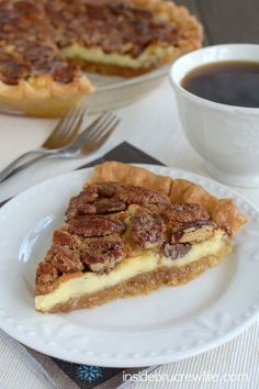 Pecan Cheesecake Pie - cheesecake layered with a pecan pie for a fun and delicious layered pie