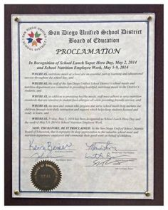 """To honor our food service staff, the SDUSD Board of Education declared May 2, 2014 as School Lunch Super Hero Day and May 5-9, 2014 as School Nutrition Employee Week. The Board expressed """"its deep appreciation to the valuable school meal and nutrition department employees and commends their good work on behalf of children."""" Well done!  Via facebook.com/profile.php?id=142547679112028 K12 School, School Lunch, School Meal, Super Hero Day, Employee Appreciation, Encouragement, Merchandising Ideas, Nutrition, Food Service"""