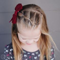 17 Simple and Adorable Toddler Girl Hairstyles for Medium to Long Hair - Just Si. 17 Simple and Adorable Toddler Girl Hairstyles for Medium to Long Hair - Just Simply Mom Cute Toddler Girl Hairstyles, Easy Little Girl Hairstyles, Easy Hairstyles For Long Hair, Office Hairstyles, Anime Hairstyles, Stylish Hairstyles, Hairstyles Videos, Hairstyle Short, Hairstyle For Kids