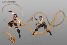 ArtStation – Character Concept – Naomi, Dasha Y. Park Source by sirkiwington Our Reader Score[Total: 0 Average: Related photos:Thumbnails` ★ Anime Weapons, Fantasy Weapons, Fantasy Warrior, Fantasy Art, Fantasy Character Design, Character Design Inspiration, Character Concept, Character Art, Fighting Poses