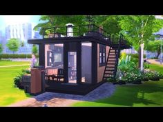 ECO MODERN TINY HOUSE || The Sims 4: Speed Build - YouTube