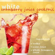 white cranberry juice cocktail