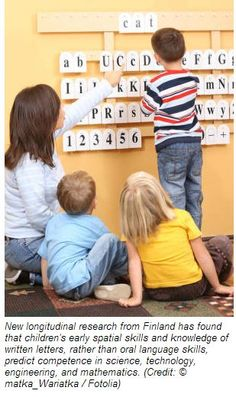 Spatial, Written Language Skills Predict Math Competence - pinned by @PediaStaff – Please Visit ht.ly/63sNtfor all our pediatric therapy pins