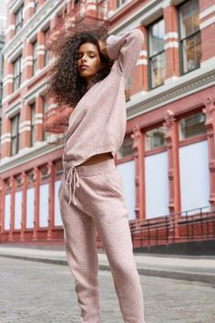 2 Comfy-Chic Loungewear Sets You'll Live in All Winter (and They're on Sale!) wear stylish 2 Comfy-Chic Loungewear Sets You'll Live in All Winter (and They're on Sale! Loungewear Outfits, Loungewear Set, Lounge Outfit, Lounge Wear, Cute Pajama Sets, Fashion Moda, Fashion Sets, Punk Fashion, Lolita Fashion