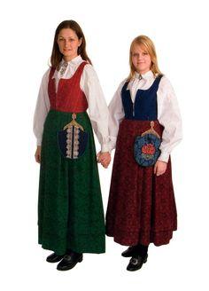 Gudbrandsdølen Dagningen - Her er kvinnebunadene Norway, Scandinavian, All Things, Folk, Costumes, Outfits, Clothes, Fashion, Tall Clothing