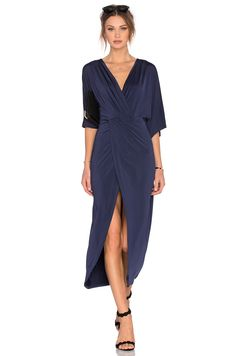 Lovers + Friends Cruise Wrap Dress in Navy | REVOLVE
