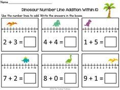 math worksheet : number lines kindergarten addition and addition worksheets on  : Number Line Addition Worksheet