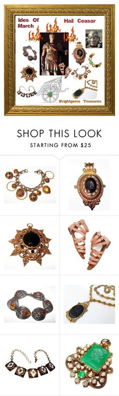 """Ides Of March Hail Ceasar"" by brightgemsu ❤ liked on Polyvore featuring Napier and vintage"