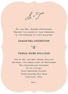 lovely and simple. estate wedding invitations by kim dietrich elam for minted.