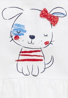 Clothing at Tesco | F&F 2 Pack of Peplum Hem T-Shirts > tops > Tops & T-shirts > Kids