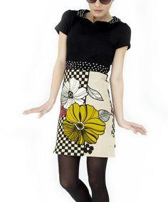 Look at this #zulilyfind! Black & White Isabel Dress #zulilyfinds