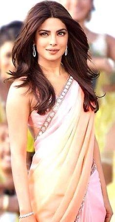 Priyanka Chopra in a pink saree